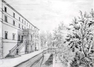 View of the Garden Terrace of the Villa d'Este at Tivoli, 1643-44.