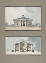 "Project for a ""Maison de plaisance pour un grand seigneur"", Elevation and Section, ca. 1783."