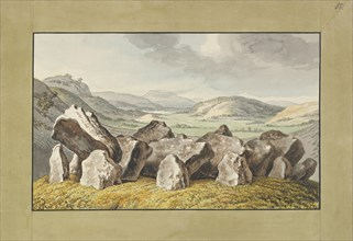 A Prehistoric Stone Circle on a Mound, an Extensive Landscape Beyond, mid-18th-early 19th century.