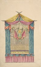 Design for a Fanciful Organ, late 18th-early 19th century.