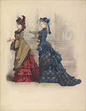 Two Women in Day Dresses, 1875.