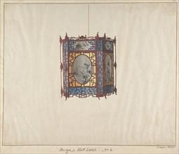 Design for a Hall Lamp No.6, ca. 1845.