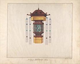 Design for Hall Lamp No.9, ca. 1845.