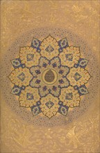 Rosette Bearing the Name and Title of Emperor Aurangzeb (Recto), from the Shah Jahan Album, recto: ca. 1658; verso: ca. 1630-40.