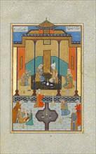 Bahram Gur in the Sandal Palace on Thursday, Folio 230 from a Khamsa (Quintet) of Nizami, A.H. 931/A.D. 1524-25.