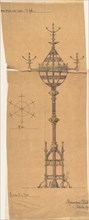 Designs for [Gas?] Lights for a Church, ca. 1880.