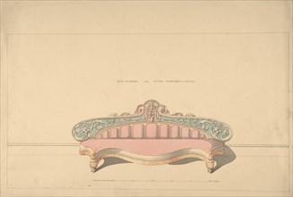 Design for Side Ottoman, Later Arabesque or Morisco Style, 1835-1900.