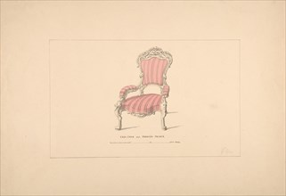 Design for Easy Chair, François Premier Style, 1835-1900.
