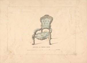 Design for Armchair, François Premier Style, 1835-1900.