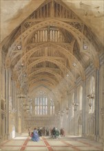 Guildhall, London: The Great Hall, Facing East, ca. 1864.