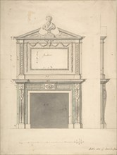 Design for a Chimney-piece, for Thomas Hollis of Lincoln's Inn, London, after 1754.