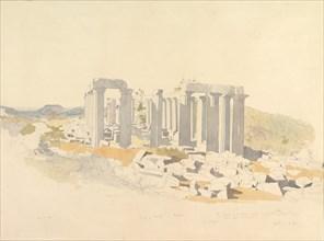 The Temple of Apollo at Bassae, 1843.