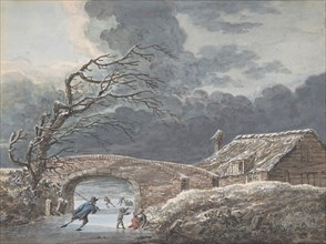 Winter Landscape with Skaters on a Frozen Canal, n.d..