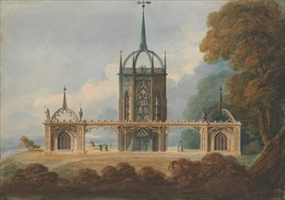 "Design for a Gothic ""Belle Vue"", ca. 1800."