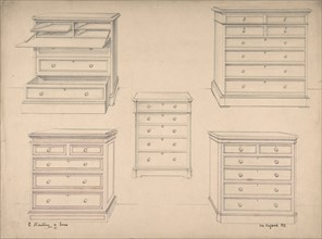 Designs for Chests of Drawers, 1841-84.