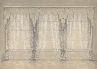 Design for a Wall with Three Windows, 1841-84.