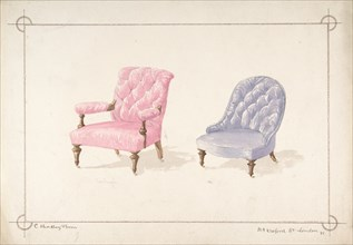 Designs for Two Chairs, 1841-84.
