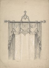 Design for Gothic Curtains and Curtain Rod, 1841-84.