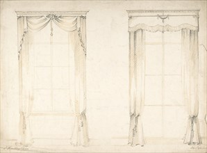 Designs for Two Sets of Curtains, 1841-84.