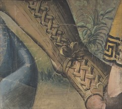 Fragment of a Tapestry Cartoon: Foot in a Buskin, Drapery, and a Plant, 1500-1550.