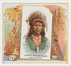 Agate Arrow Point, Warm Springs, from the American Indian Chiefs series (N36) for Allen & Ginter Cigarettes, 1888.