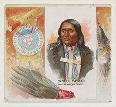 White Shield, Southern Cheyenne, from the American Indian Chiefs series (N36) for Allen & Ginter Cigarettes, 1888.