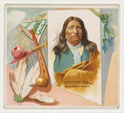Spotted Tail, Blackfeet Sioux, from the American Indian Chiefs series (N36) for Allen & Ginter Cigarettes, 1888.