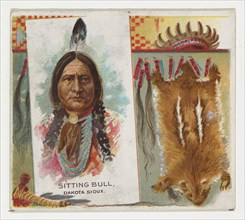 Sitting Bull, Dakota Sioux, from the American Indian Chiefs series (N36) for Allen & Ginter Cigarettes, 1888.