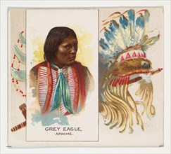 Grey Eagle, Apache, from the American Indian Chiefs series (N36) for Allen & Ginter Cigarettes, 1888.