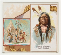Crow's Breast, Gros Ventres, from the American Indian Chiefs series (N36) for Allen & Ginter Cigarettes, 1888.