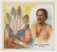 Great War Chief, Navajos, from the American Indian Chiefs series (N36) for Allen & Ginter Cigarettes, 1888.