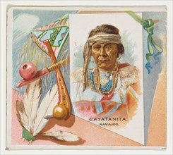Cayatanita, Navajos, from the American Indian Chiefs series (N36) for Allen & Ginter Cigarettes, 1888.