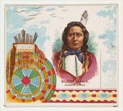 Black Hawk, Dakota Sioux, from the American Indian Chiefs series (N36) for Allen & Ginter Cigarettes, 1888.