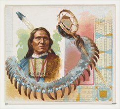 Big Snake, Winnebagoes, from the American Indian Chiefs series (N36) for Allen & Ginter Cigarettes, 1888.