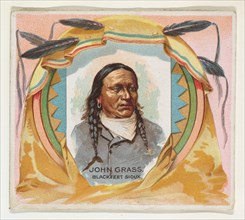 John Grass, Blackfeet Sioux, from the American Indian Chiefs series (N36) for Allen & Ginter Cigarettes, 1888.