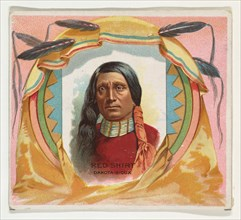 Red Shirt, Dakota Sioux, from the American Indian Chiefs series (N36) for Allen & Ginter Cigarettes, 1888.