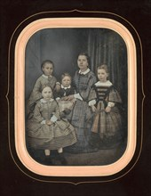 [Woman with Four Children], 1850s.