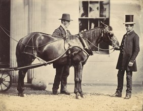 Reverend L. C. Cure and His Pony, 1859.