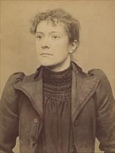 Soubrier. Annette (femme Chericotti). 28 ans, née à Paris Ille. Coutière. Anarchiste. 25/3/94., 1894.