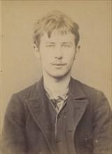 Solier. Auguste. 18 ans, né le 3/3/75 à Cemery-la-Ville. Dessinateur. Anarchiste. 12/1/94., 1894.