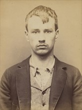 Deliège. Nicolas, François. 19 ans, né à Ixelles (Belgique). Tailleur d'habits. Anarchiste. 9/3/94. , 1894.