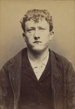 Anceau. Aimé-Firmin. 20 ans, né le 18/2/74 à Paris XIIe. Sculpteur sur bois. Anarchiste. 17/7/94., 1894.