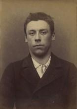 Bouchez. Louis. 19 ans, né le 29/8/75 à Paris XXe. Sculpteur. Anarchiste. 6/1/94., 1894.