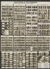 """Tableau synoptic des traits physionomiques: pour servir a l'étude du """"portrait parlé"""", ca. 1909."""