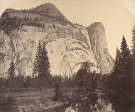 North Dome on left - Royal Arches - Washington Column, 1861, Yosemite.
