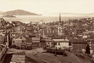 San Francisco, from California and Powell Street, 1864, printed ca. 1876.