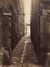 Rue du Chat-qui-Pêche (from the Rue de la Huchette), ca. 1868.