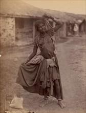 [A Gypsy Dancing-Girl, Kathiawar], ca. 1915.