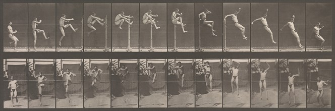Animal Locomotion. An Electro-Photographic Investigation of Consecutive Phases of Animal Movements. Commenced 1872 - Completed 1885. Volume V, Man (Pelvis Cloth), 1880s.