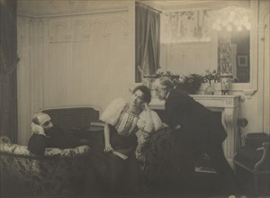Paul Poujaud, Mme. Arthur Fontaine, and Degas, 1895.